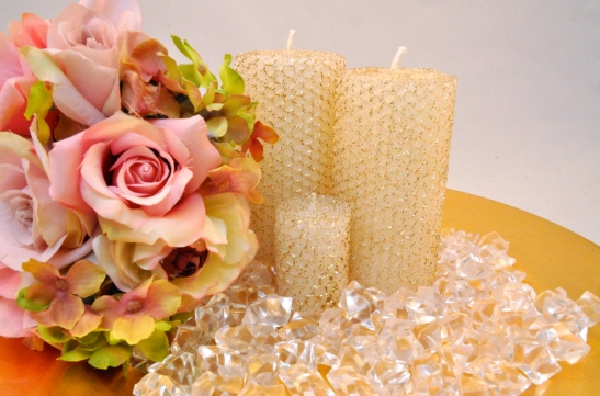 Beeswax Wedding Candles product shoot