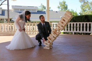 Read all about games like Giant Tumble Tower for wedding planning ideas!